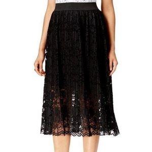 ECI black lace skirt